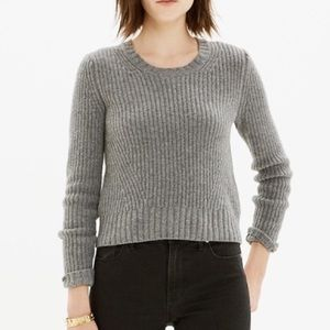 EUC Madewell cropped sweater